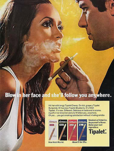 blow, smoke, face, advertisement