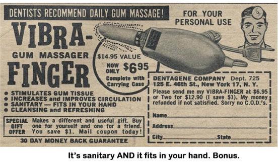 massager, vibrator, gum