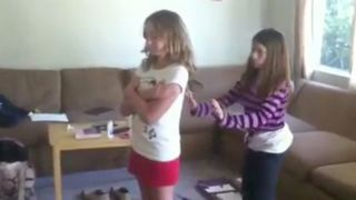 Girl Doesn't Quite Understand Trust Fall Concept