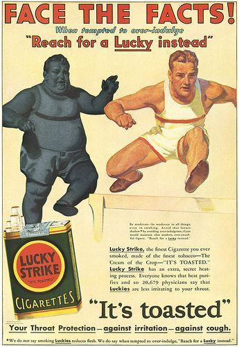 lucky, strike, old advertisement
