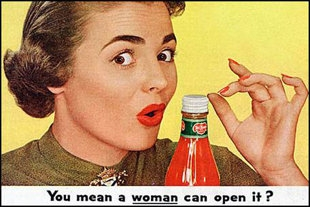 woman, advertisement