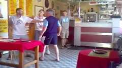 Old Man Loses Bar Fight To Table