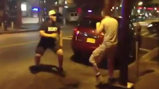 Bouncer Ends A Fight Quickly