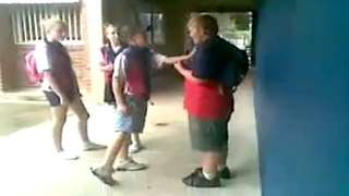 Chubby Kid Beats Up Bully