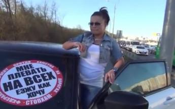 Russian Activists Stop Douchebag Drivers