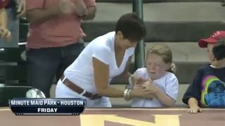Evil Woman Steals Baseball From Little Girl