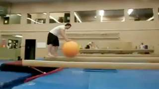 Exercise Ball On Balance Beam