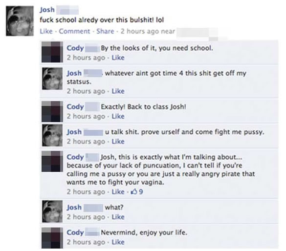 facebook, status, grammar, correct
