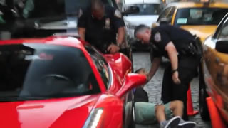 Ferrari 458 Owner Runs Over Cop's Foot
