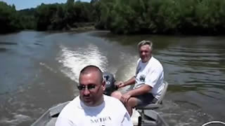 Fish Knocks Man Off Boat