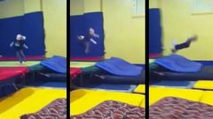 Toddler Accidentally Lands A Front Flip