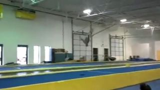Gymnast Does Insane Amount Of Flips