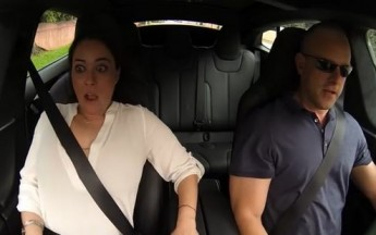 Hilarious Reactions From A Tesla In Insane Mode