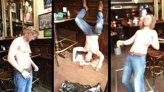 Drunk Irishmen Passes Out Hard