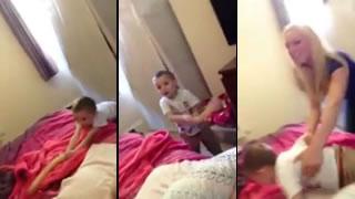 Little Kid Finds Mom's Hidden Dildo