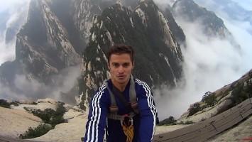Hua Shan plank walk - Harness? - YouTube - Mozilla Firefox