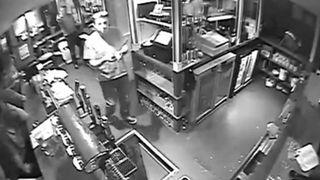 Man Falls Through Hole In Bar Floor
