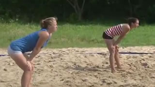 Girl's Volleyball Awkward Fall