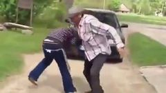 Two Drunk Russians Fighting
