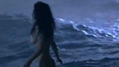 Salma Hayek Topless Skinny Dipping
